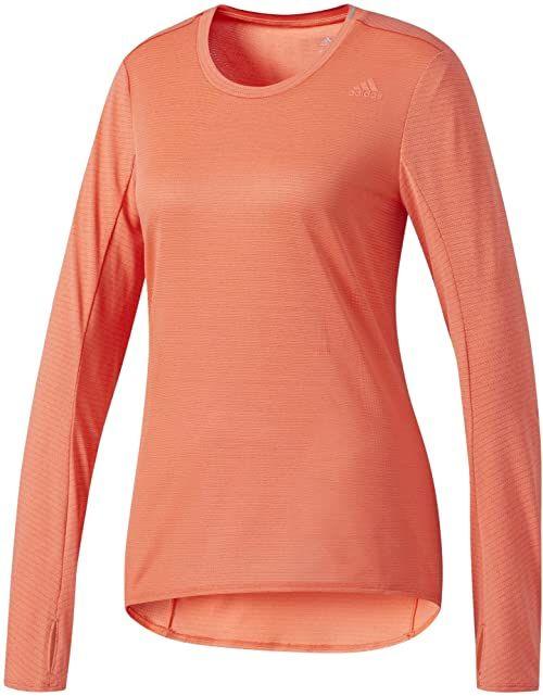 adidas Damska koszulka z długim rękawem Supernova czerwony Easy Coral L