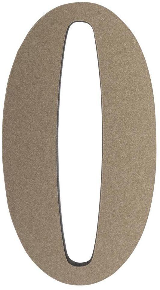 Cyfra 0 wys. 5 cm PVC srebrna