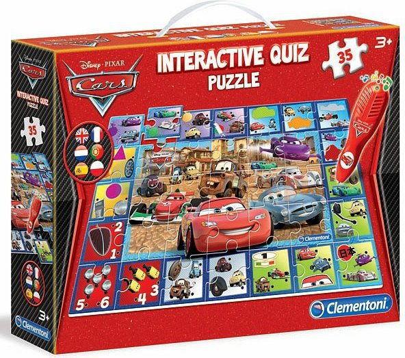 Clementoni - Quiz interaktywny Puzzle Cars