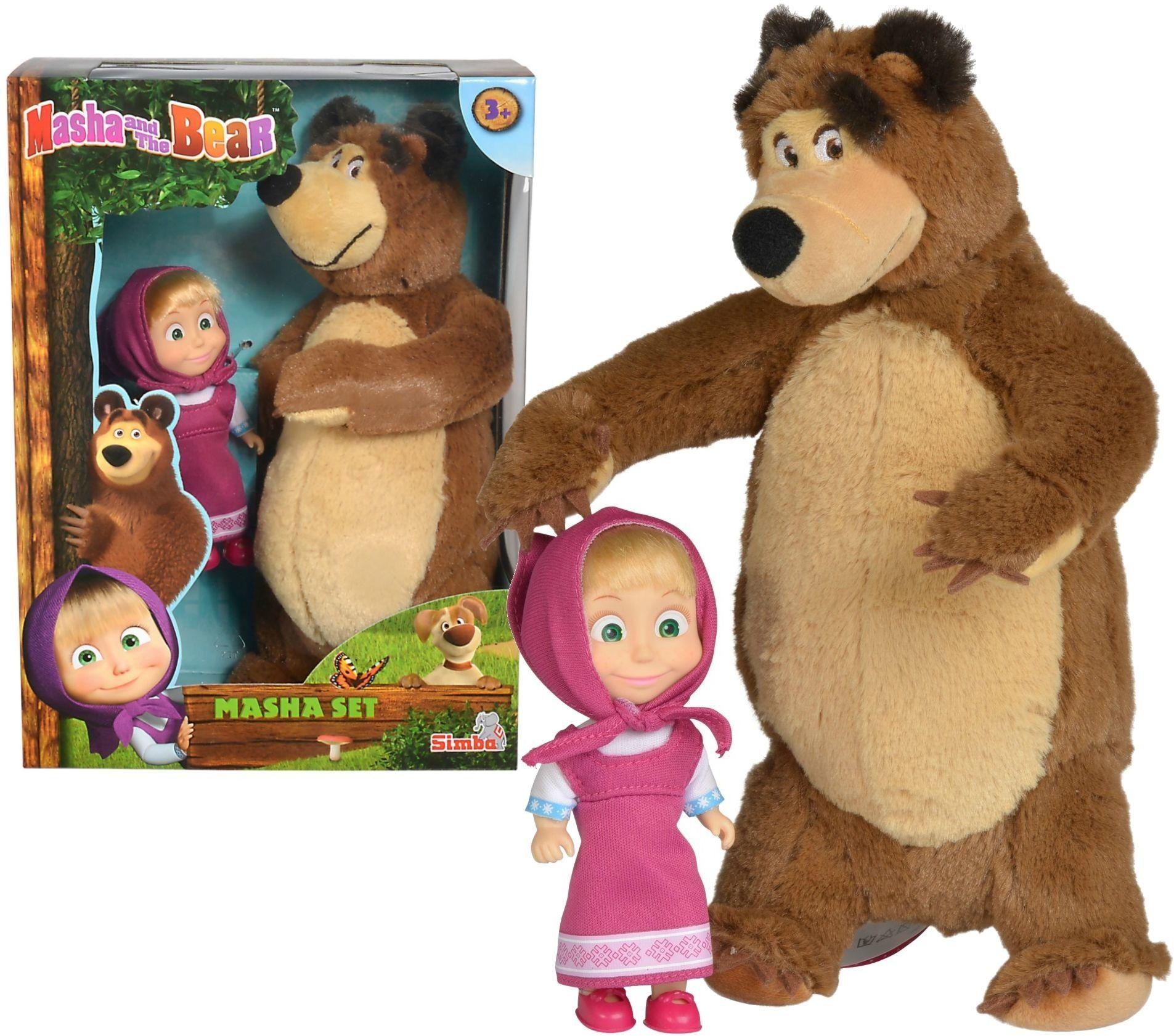 Masza i Niedźwiedź - Lalka Masza + Niedźwiedź 9301072