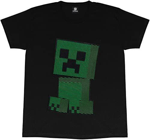 Minecraft t-shirt z okrągłym dekoltem dla dziewcząt, nadruk z podszewką, 100% bawełna, oficjalny towar, wiek 5 do 15 lat top dla graczy, odzież do gier, pomysł na prezent dla dziewcząt