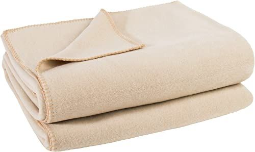 zoeppritz since 1828 miękki koc polarowy z haftem szydełkowym, miękki koc do wtulania się  160 x 200 cm  020 cream