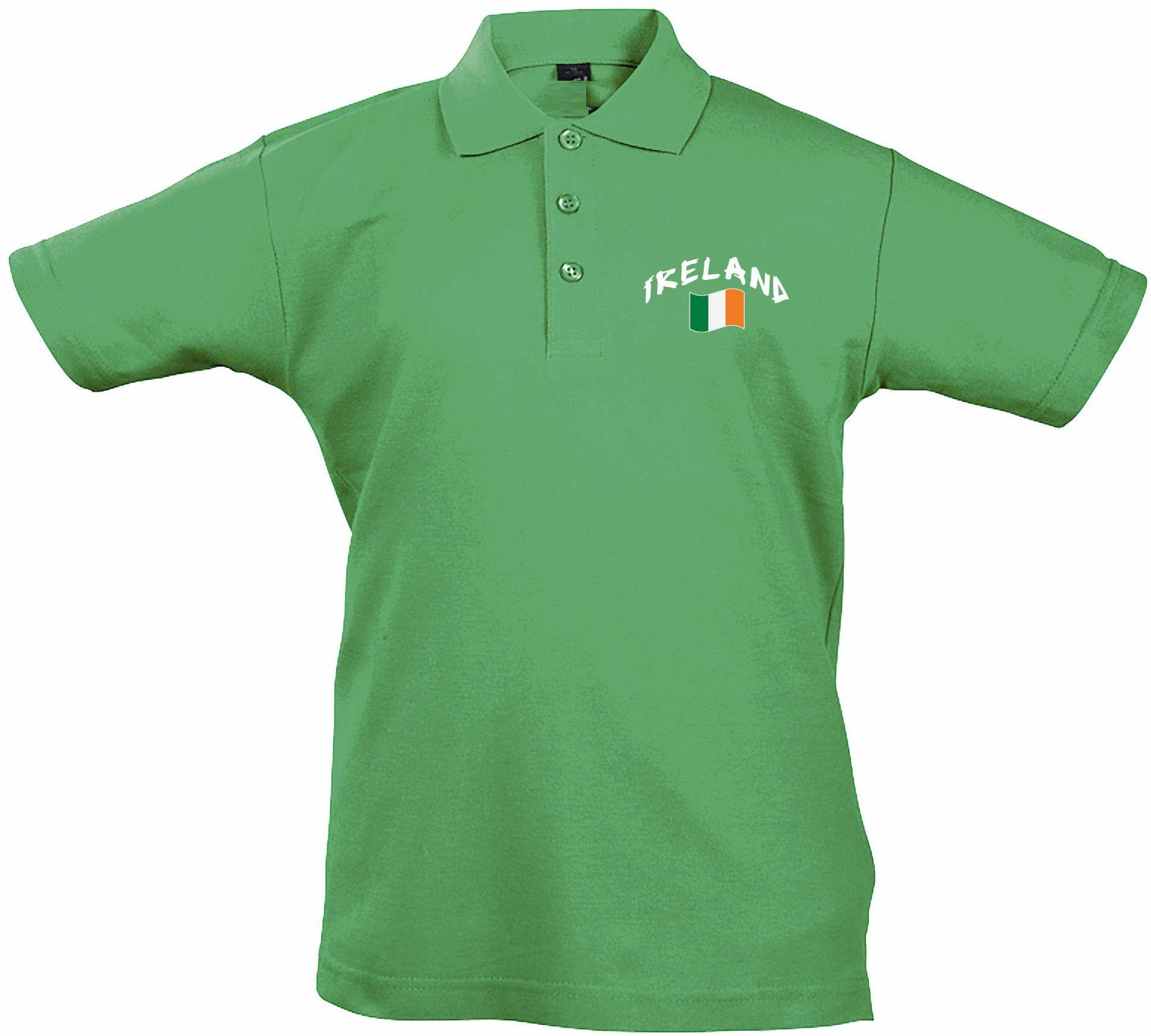Supportershop Dziecięca koszulka polo Rugby Irland XXL, niebieska