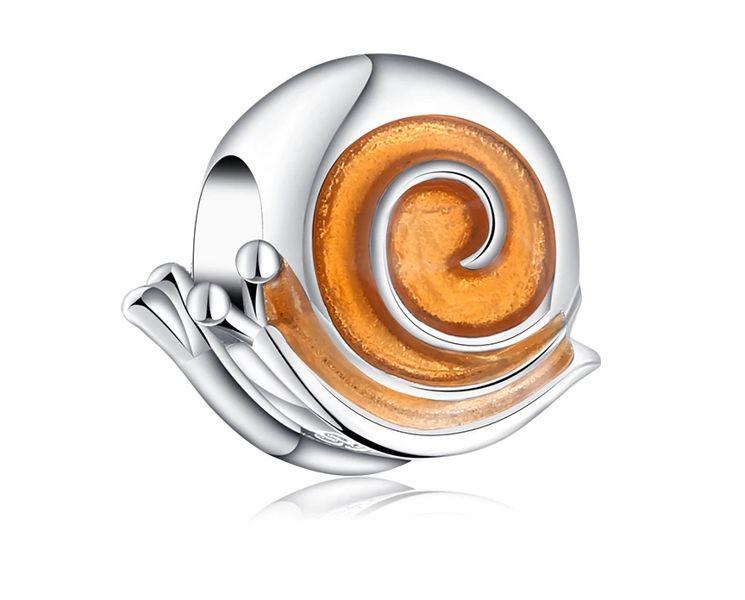 Rodowany srebrny charms do pandora ślimak snail srebro 925 NEW51