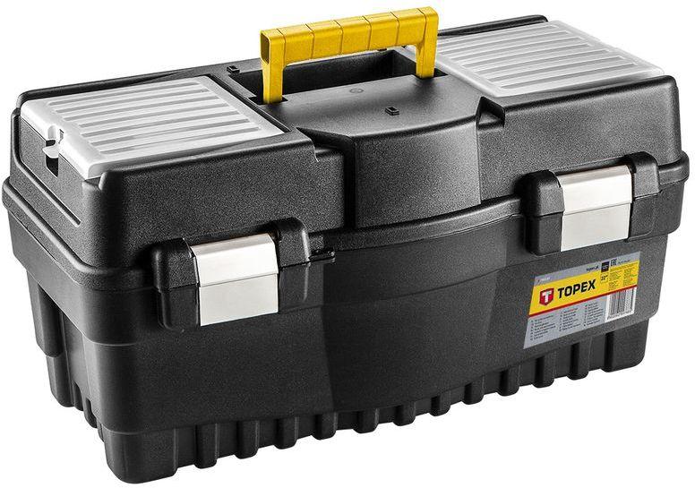 Skrzynka narzędziowa 16 cali z organizerami plastikowy uchwyt 79R124