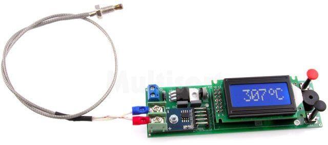 Termometr z termoparą i alarmem (do montażu)