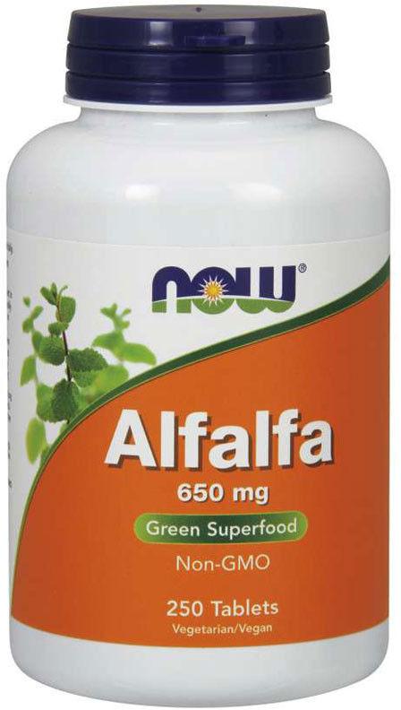 NOW Alfalfa 650mg 250tabs