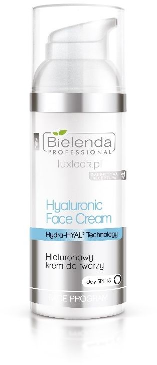 Bielenda Professional Supremelab Hydra-Hyal2 Injection Nawadniająco-liftingujący krem do twarzy z kwasem hialuronowym SPF 15 50ml