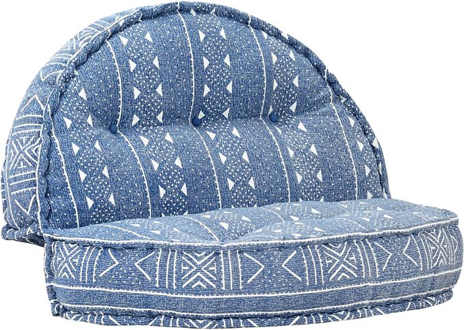 Materiałowa sofa Dina - niebieska