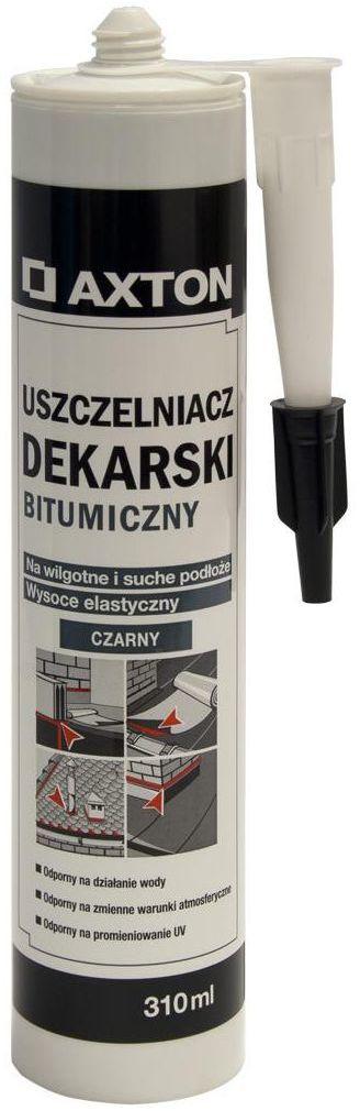 Uszczelniacz dekarski bitumiczny Czarny 310 ml AXTON