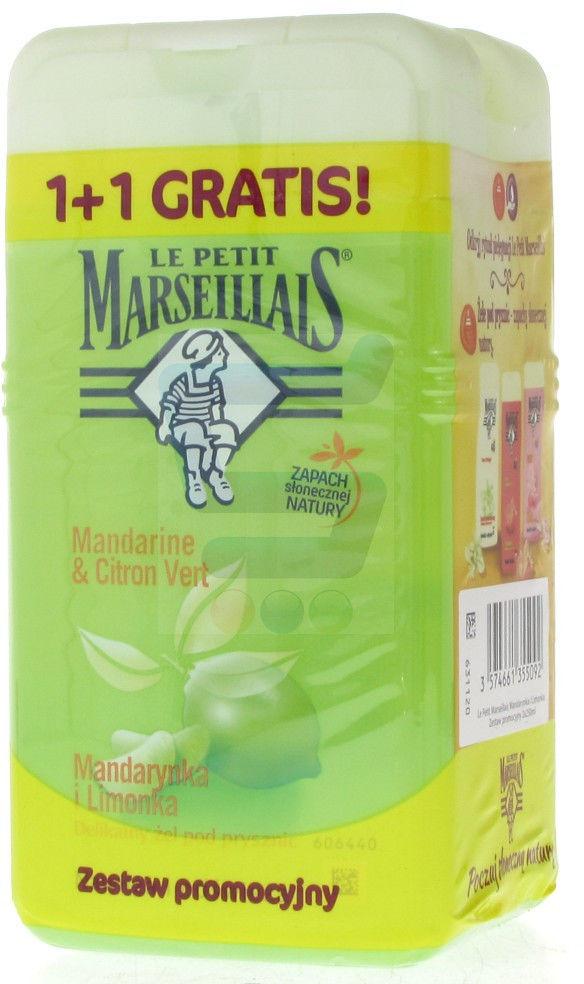 Le Petit Marseillais żel pod prysznic mandarynka/limonka 250 ml (1+1 GRATIS)