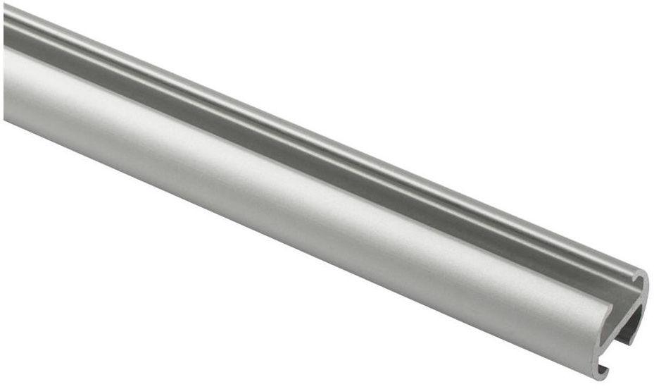 Profil szyna sufitowa 200 cm srebrny aluminiowy 20 mm okrągły