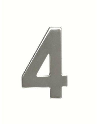 Numer domu ze stali nierdzewnej 4, 2D płaski