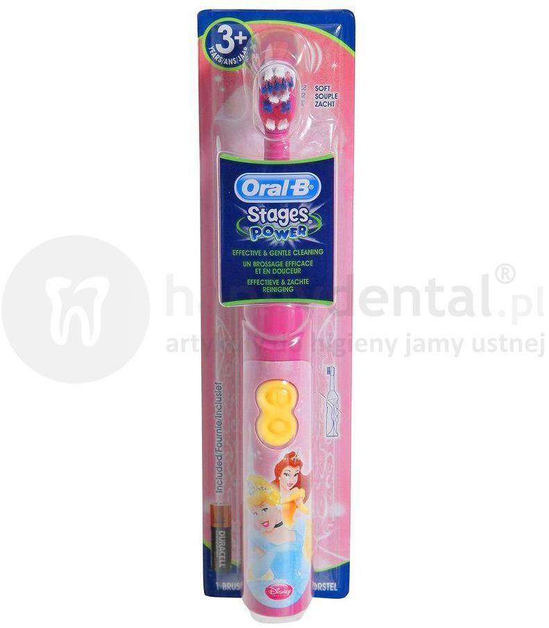 BRAUN Oral-B DB3 Stages Power - szczoteczka bateryjna Oral B dla dzieci - bajka Księżnikczki (Princess)