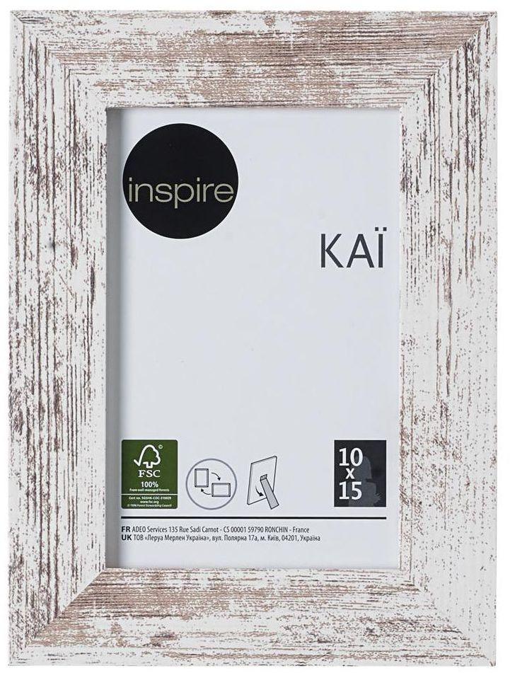 Ramka na zdjęcia Kai 10 x 15 cm biała shabby MDF Inspire