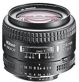 Nikon AF 24mm f/2.8D Czarny