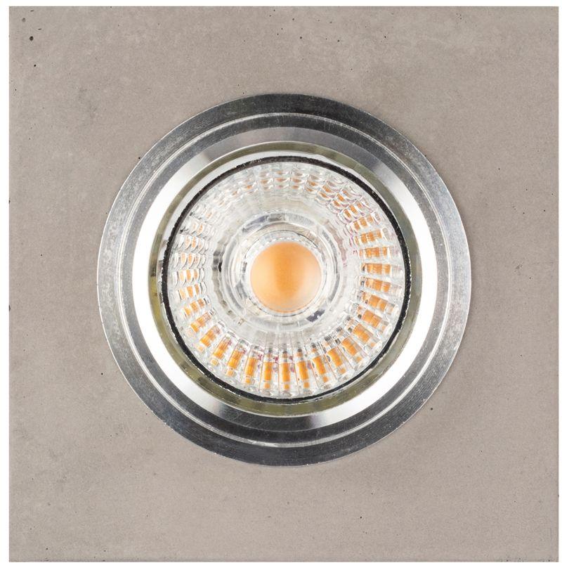 Spot Light 2515136 Vitar Square Lampa Sufitowa Incl. 1xGU10 LED 6 W Beton 9,5cm