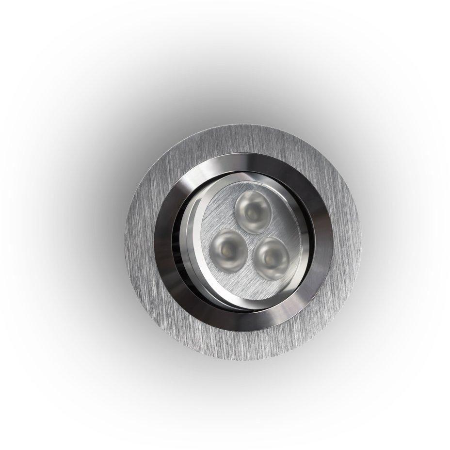 Oprawa wpuszczana Pio LED Allumino Orlicki Design okrągła oprawa w kolorze aluminiowym