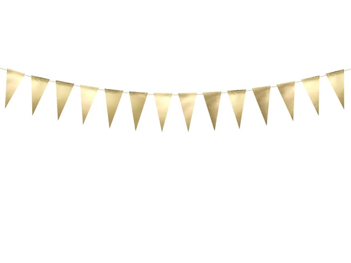 Girlanda flagietki złota - 215 cm - 1 szt.