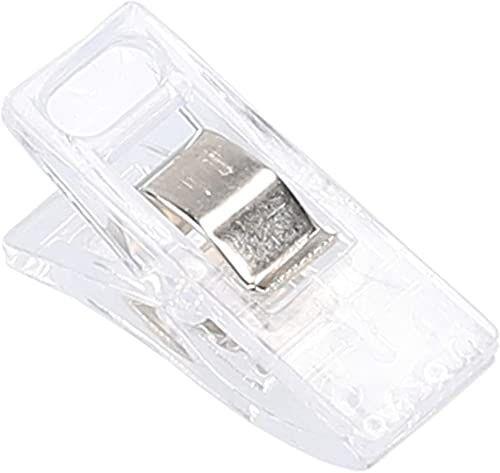 mumbi 30695 klamerki do materiału, tworzywo sztuczne, przezroczyste, 50 sztuk, liczba