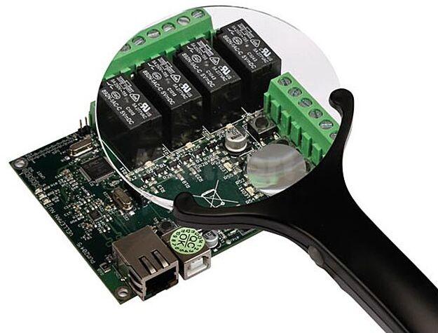 Lupa podświetlana LED dwusoczewkowa 90/21mm z powiększeniem x2,5/x4