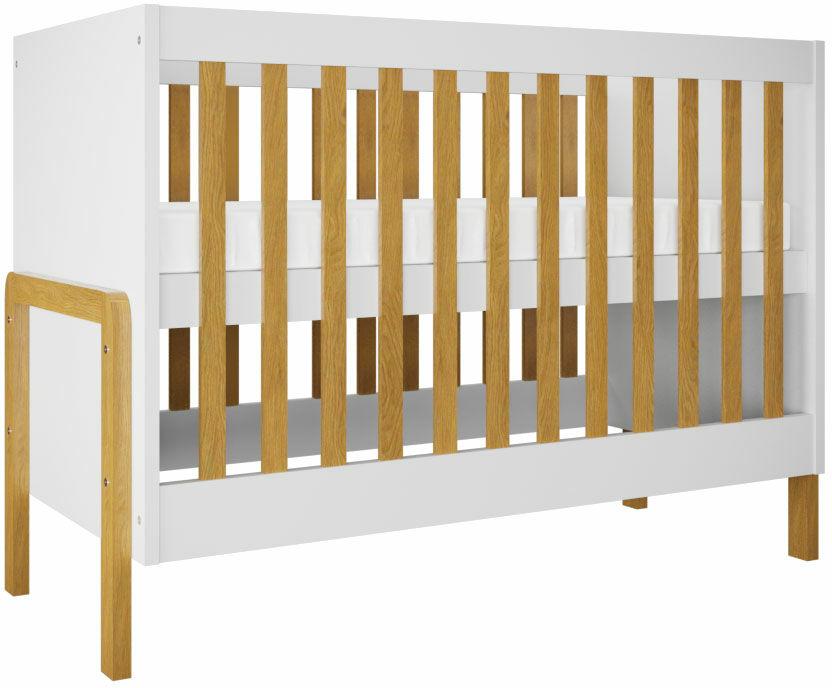 Białe nowoczesne łóżeczko niemowlęce - Benny 7X