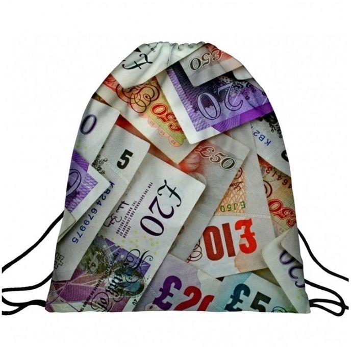 Worek plecak z nadrukiem Money A4