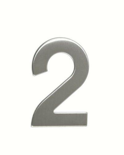 Numer domu ze stali nierdzewnej 2, 2D płaski