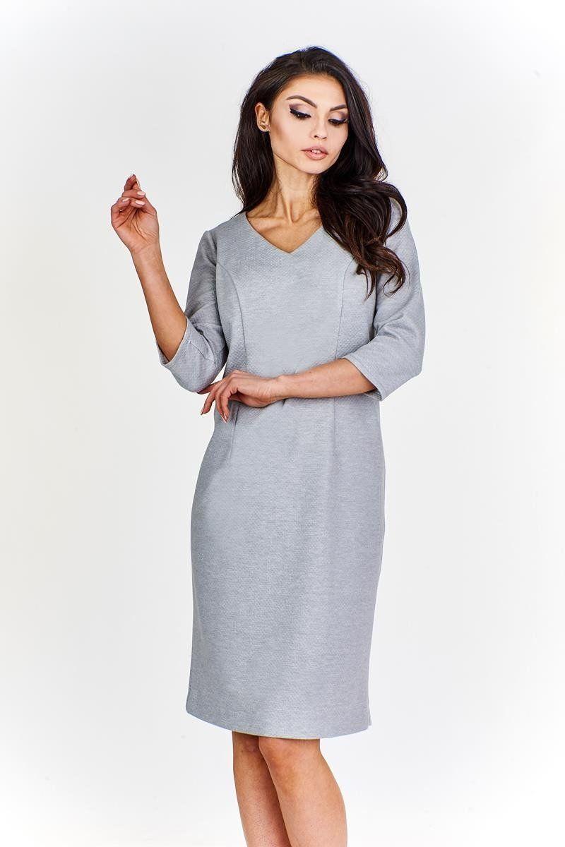 Sukienki Sukienka Sukienie FSU893 SZARY JASNY