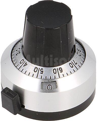 Gałka precyzyjna z licznikiem do potencjometrów osiowych fi osi 6,35mm