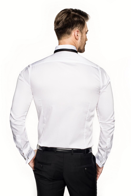 koszula wincass 2737 na spinki slim fit biały