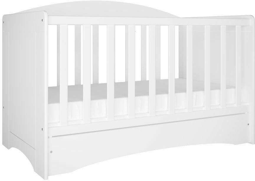 Białe łóżeczko niemowlęce - Pinokio 2S