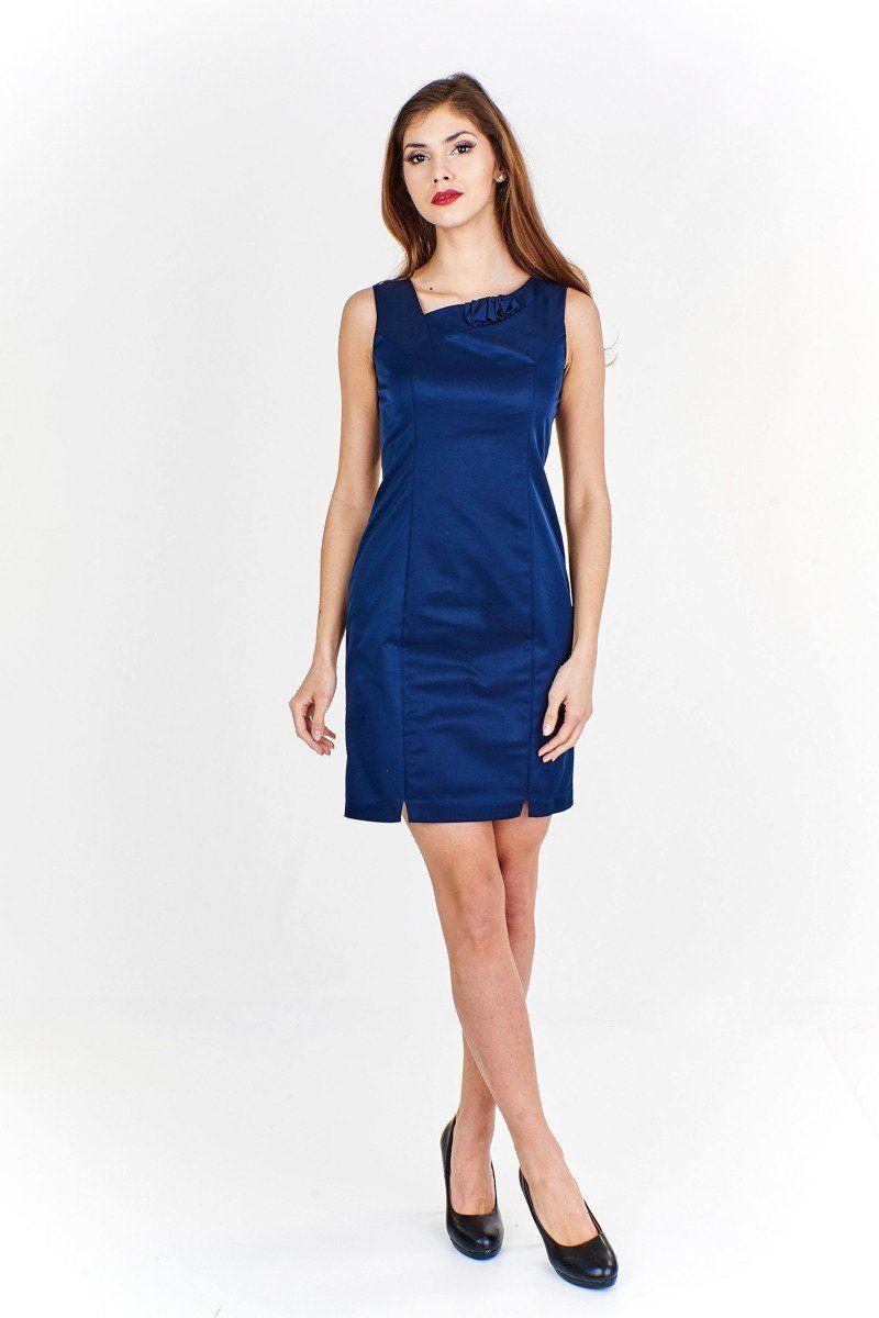 Sukienka FSU634 GRANATOWY JASNY