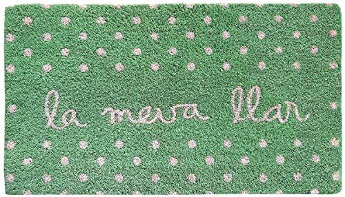 LAROOM Wycieraczka wzór La Meva zębatka 40x70x1,8 cm zielona