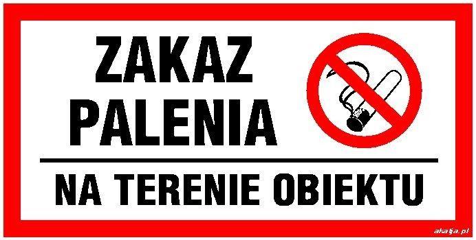 Tabliczka Zakaz Palenia