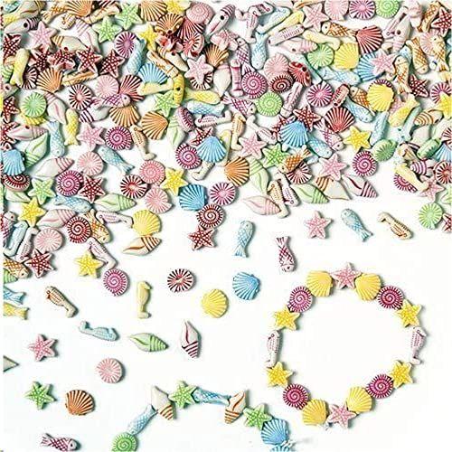"""Baker Ross EV1532 mini perły""""Plaża i morze""""  dla dzieci do majsterkowania biżuterii  łańcuszki  bransoletki  400 sztuk"""
