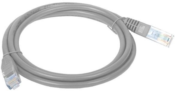 Patch Cable (Patchcord) - kabel sieciowy ethernet RJ45 UTP 15m kat.5e Szary