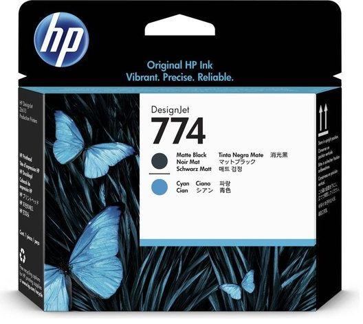 Wyprzedaż Oryginał Głowica drukująca HP 774 do HP DesignJet Z6610 Z6810 matte black + cyan