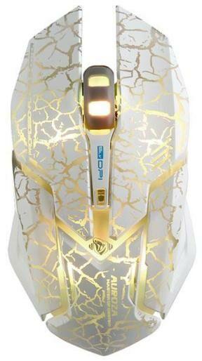 E-BLUE Auroza Gaming EMS639 (biała/paski)