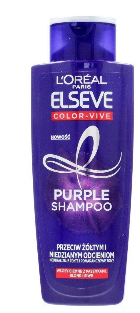 Loreal Loreal Elseve Color-Vive Purple Szampon do włosów przeciw żółtym i miedzianym odcieniom 200ml