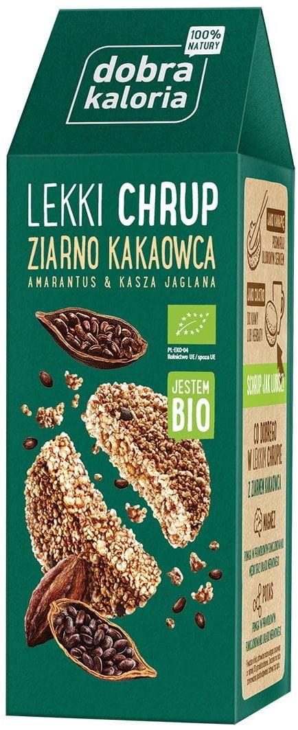 Talarki lekki chrup z ziarnem kakaowca bio 65 g - dobra kaloria