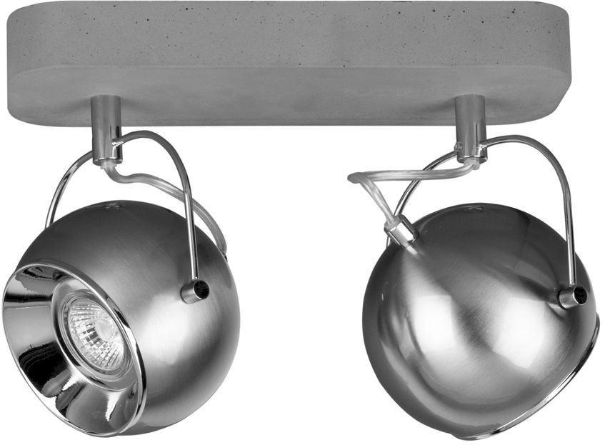 Spot Light 5131236 Ball Concrete plafon lampa sufitowa beton klosze metal satyna/chrom 2xLED GU10 6W IP20 29cm