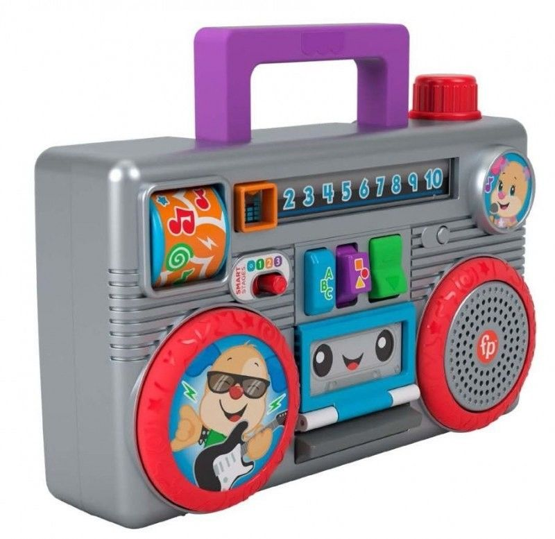 Fisher Price Price Ucz się i Śmiej Retro Radiomagnetofon Szczeniaczka PL GYC17