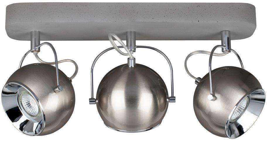 Spot Light 5131336 Ball Concrete plafon lampa sufitowa beton klosze metal satyna/chrom 3xLED GU10 5W IP20 41cm