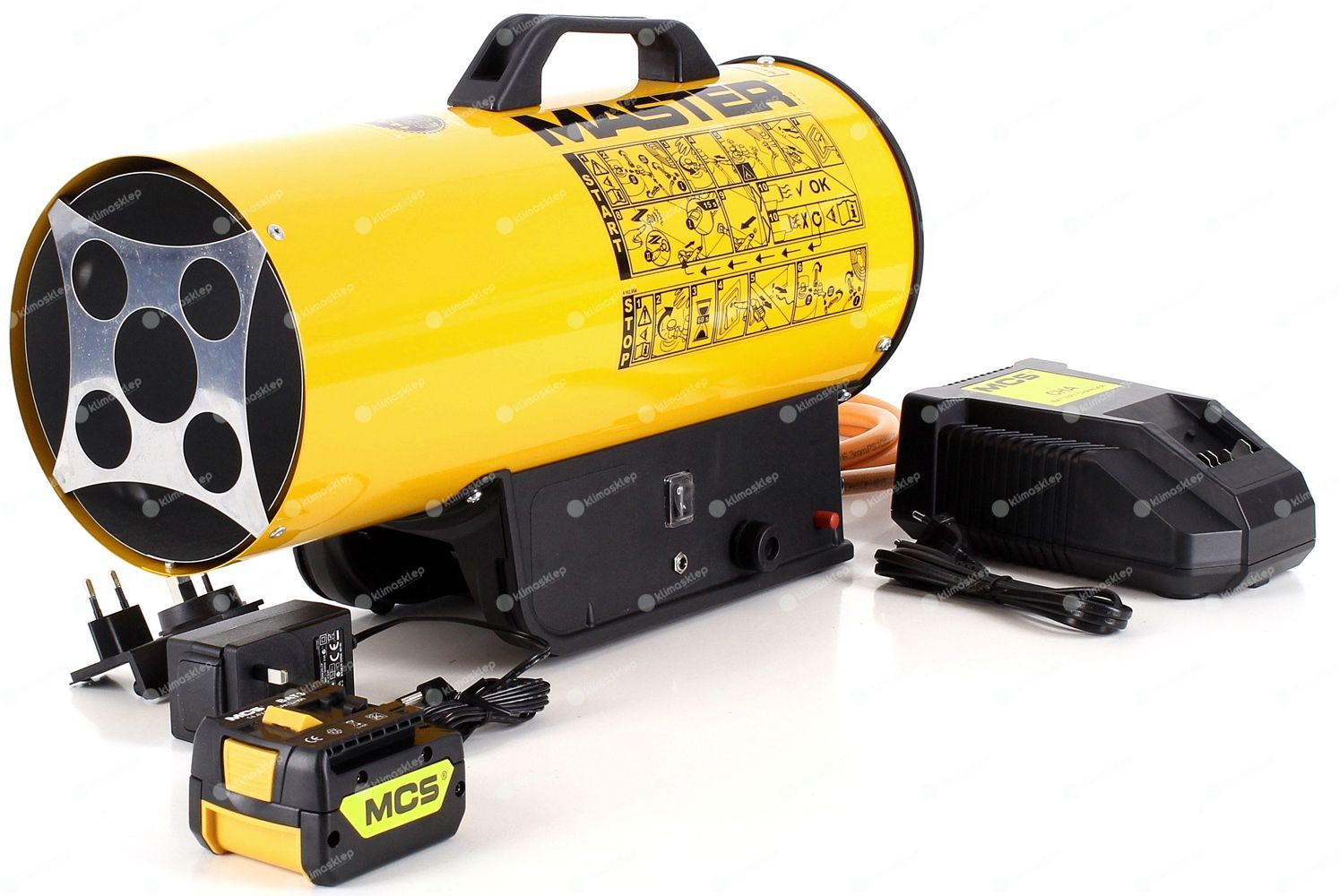 Nagrzewnica gazowa Master BLP 17 M DC - w komplecie bateria/ładowarka