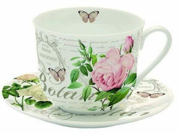 Easy Life/R2S, filiżanka śniadaniowa - Jardin Botanique, róże