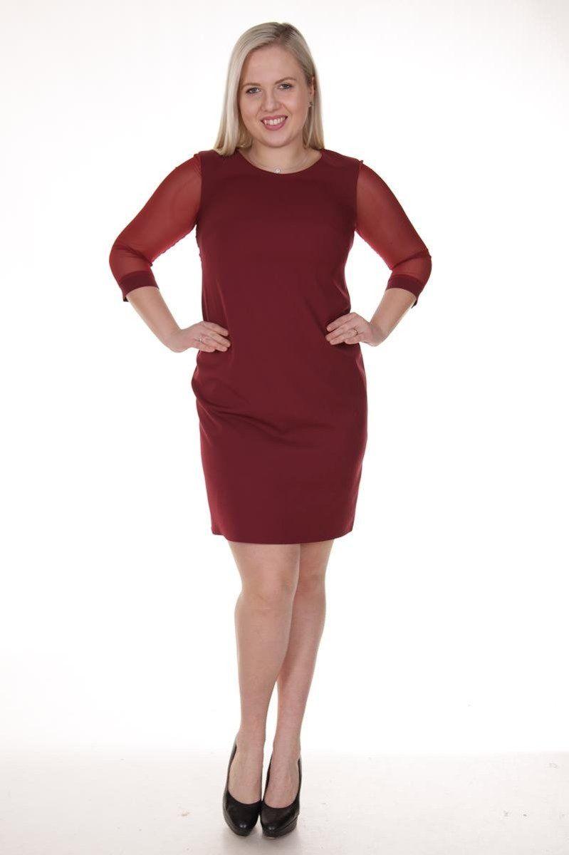 Sukienka FSU903 CZERWONY