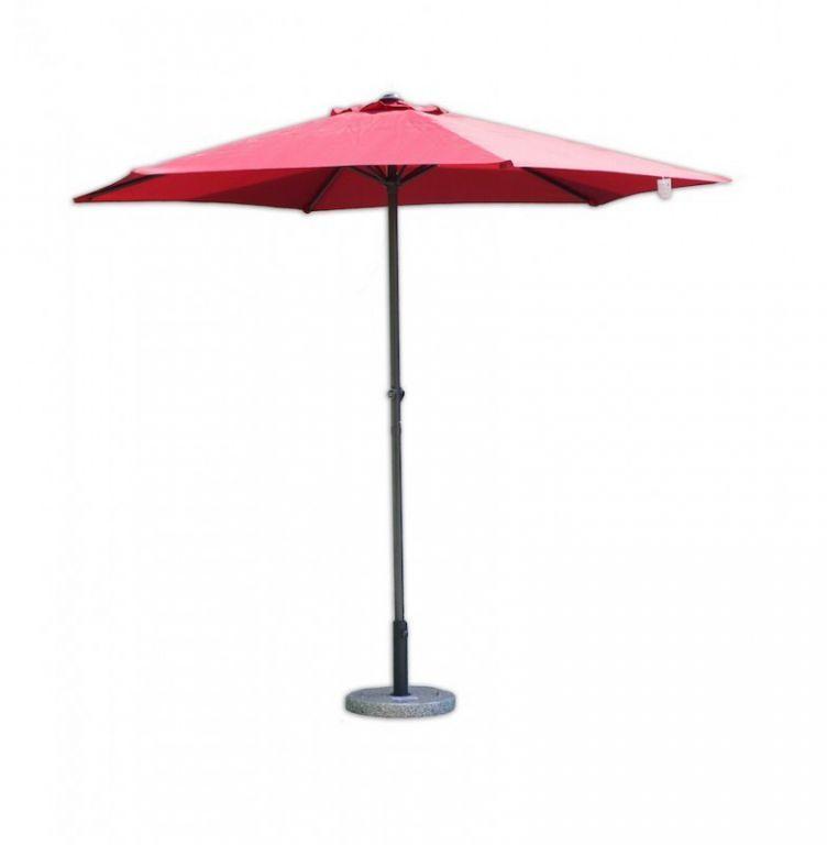 Parasol ogrodowy przeciwsłoneczny ø 270 cm bordowy