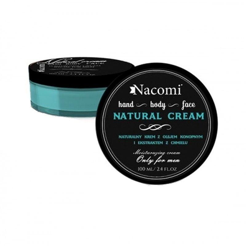 Odżywczy krem dla mężczyzn z olejem konopnym i ekstraktem z chmielu - 100ml - Nacomi