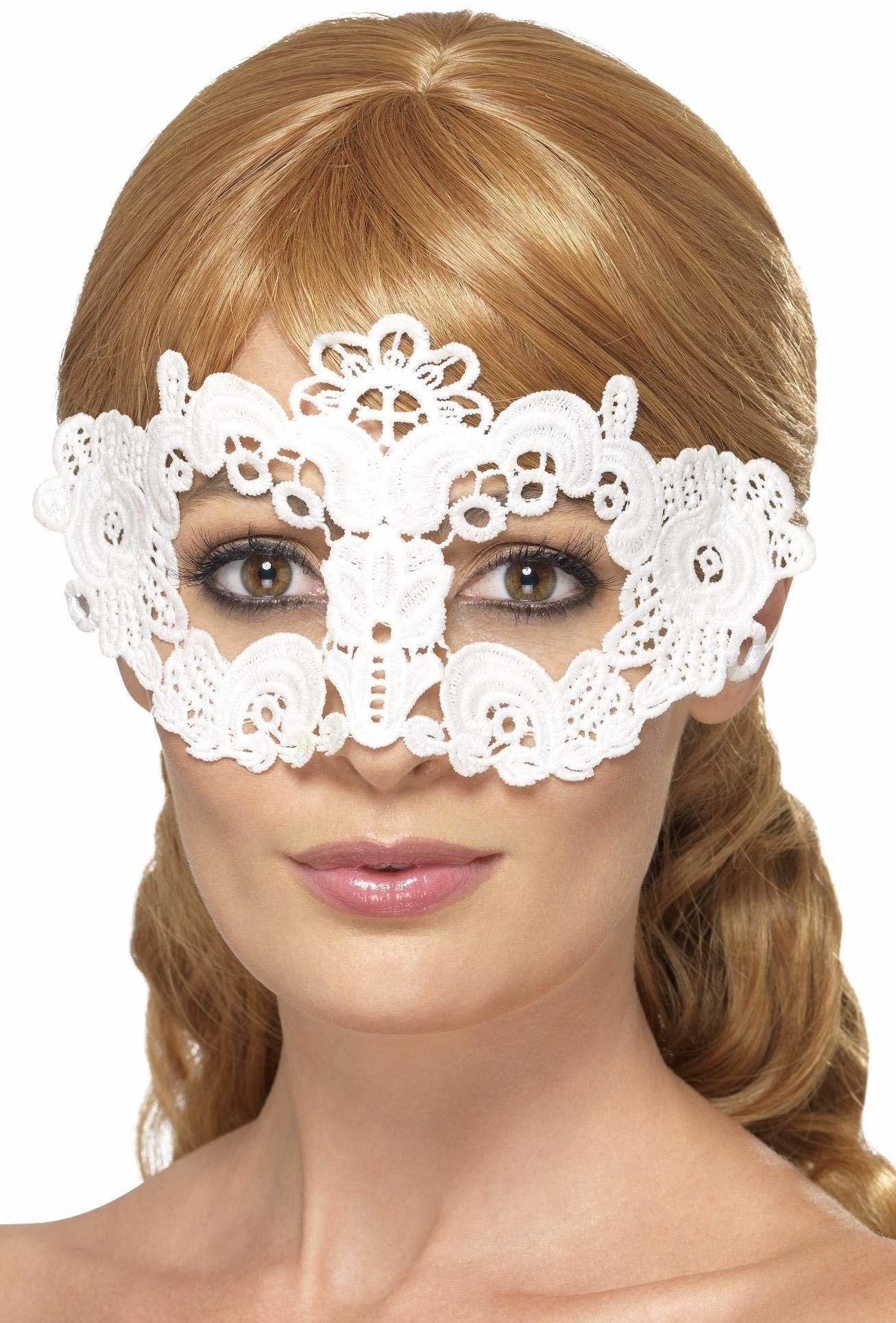 Smiffys 45631 haftowana koronkowa filigranowa kwiatowa maska na oczy (jeden rozmiar)